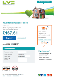 reevoo reviews being used in an online home insurance quote by lv