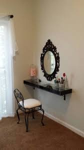 my awesome vanity mirror shelf and