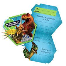 Tarjetas De Invitacion Jurassic World 6 Uni