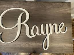 Wooden Baby Personalised Home Decor Plaques Signs For Sale In Stock Ebay