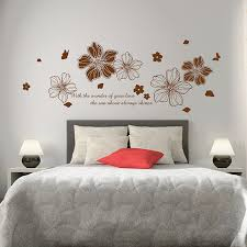 Buy Paper Flower Flower Removable Wall Stickers Bedroom Bedside Cozy Romantic Bedroom Room Decor Creative Personality Klimts Adhesive In Cheap Price On M Alibaba Com