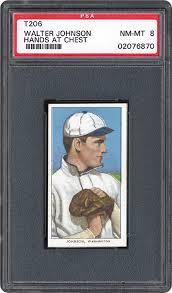 1909-1911 T206 White Border Walter Johnson (Hands At Chest) | PSA CardFacts®
