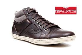 red tape mens casual brown color samour