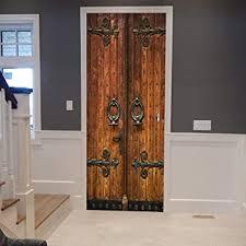 Amazon Com Colorspring 3d Classic Old Wooden Door Door Decal Door Stickers Decor Door Mural Removable Vinyl Door Wall Mural Door Wallpaper For Home Decor Mt 033 Home Kitchen