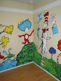 Dr Seuss Nursery Theme Ideas Playroom Mural Nursery Mural Dr Seuss Nursery