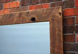 hanging a heavy mirror rustic frames