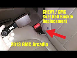 chevy gmc seatbelt buckle replacement