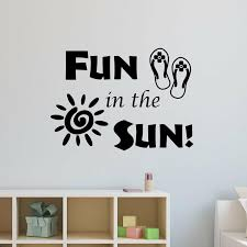 Highland Dunes Fun In The Sun Fun Quotes Wall Decal Wayfair
