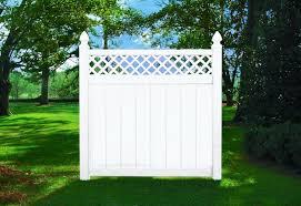 Vinyl Fences Net Lattice Top Vinyl Privacy Fence Lattice Top White Starting 119 00