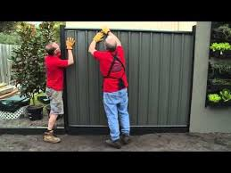 How To Install Colorbond Fence Panels Diy At Bunnings Fence Panels Metal Fence Panels Fence