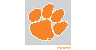 Amazon Com Clemson Tigers Orange Tiger Paw Logo 4 Vinyl Decal Car Truck Clemson Sticker Everything Else