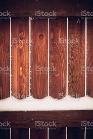 Winter Backgrounds Snowflakes On A Rustic Garden Fence Panel Stock Photo Download Image Now Istock