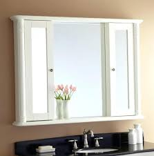 framed wall mirror in white white wood