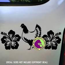 Hibiscus Chicken Vinyl Decal Sticker Gorilla Decals