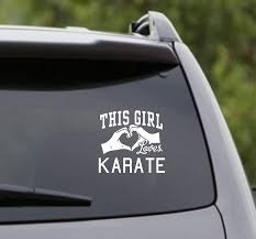Amazon Com Dabbledown Decals This Girl Loves Karate Decal Sticker Car Window Truck Laptop Tablet Home Kitchen