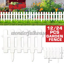 12 24pcs Garden Border Fencing Fence Pannels Outdoor Landscape Decor Edging Yard Shopee Philippines