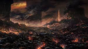 apocalyptic artwork fire explosion