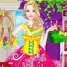 barbie princess dress up games