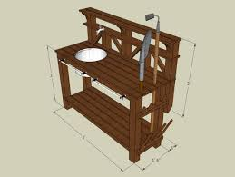 how to make a gardener s potting bench