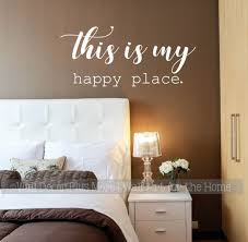 My Happy Place Inspirational Wall Words Vinyl Decal Sticker Home Decor