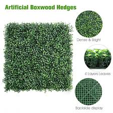 1626122910 20pcs Boxwood Hedge Artificial Plants Mat Privacy Fence Screen Faux Greenery Wall Panels Decorative Suitable For Outdoor Home Garden Festive Party Supplies