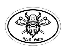 Oval Viking Hail Odin Warrior Vinyl Decal Nordic Decal Old Etsy