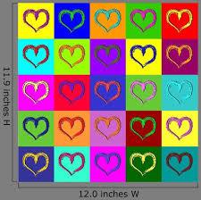 Warhol Hearts Wall Decal Wallmonkeys Com