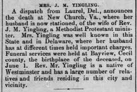 Ida Burns Yingling (1854-1902) Obit - Newspapers.com