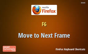 firefox move to next frame shortcut