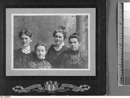 Louise (Thomson) Henry, Minnie Thomson, Ada Scott and Ida Scott
