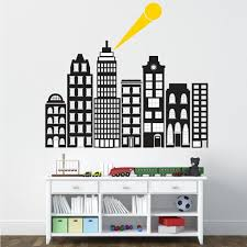 Wall Pops Black City Of Heroes Wall Decal Dwpk2711 The Home Depot