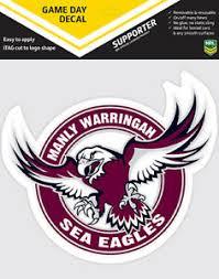 Nrl Game Day Decal Manly Sea Eagles Car Sticker 180mm Ebay