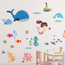 Isabelle Max Mermaids Nursery Wall Decal Reviews Wayfair