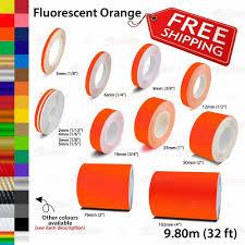 Fluorescent Orange Roll Car Pin Stripe Pinstriping Line Tape Decal Vinyl Sticker Unbrandedgeneric Rolling Car Car Decals Vinyl Vinyl Sticker