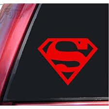 Amazon Com Shadowmajik Superman Vinyl Decal Sticker 6 X 4 7 Red Automotive