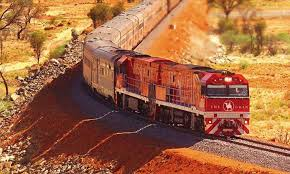 Australia on the Ghan train ...