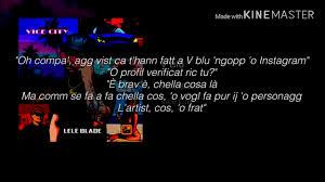 Lele Blade - V Blu (testo ufficiale) - YouTube
