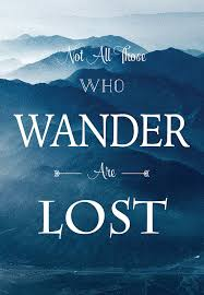 not all those who wander are lost motivational quote wall art
