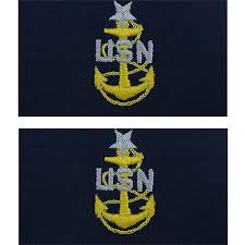 Sticker U S Navy Senior Chief Petty Officer Rank Insignia Collar Device