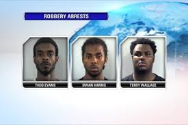 three arrested following robbery
