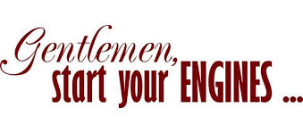Design With Vinyl Gentlemen Start Your Engines Race Track Racing Wall Decal Wayfair