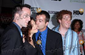 """Photos and Pictures - Photo by: Lee Roth STAR MAX, Inc. - copyright 2003.  8/11/03 Erica Beeney, Efram Potelle, Kyle Rankin and Jeff Balis at the  world premiere of """"The Battle Of"""