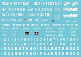 Norfolk Southern Scale Test Car Decal Set Cmr Products
