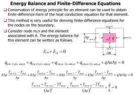 energy balance equation for heat