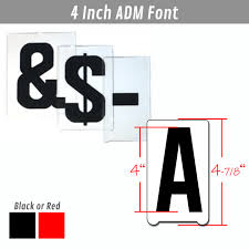 sign letters gemini adm 4 inch