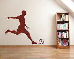 Boy Playing Soccer Silhouette Wall Decals Silhouette Modern Wall Art Sticker