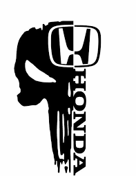 2x Honda Skull Sticker Vinyl Decal For Car And Others Finish Glossy Oracal Motorcycle Decals Skull Sticker Car Sticker Design