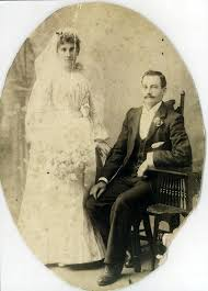 Mary Hilda Barnes & Thomas Mostyn Davies - Wedding Photo