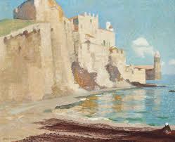 Adrian Scott Stokes, R.A. (1854-1935)   Collioure, the Net-mender ...