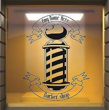 Details About Personalised Barbers Pole Window Shop Front Vinyl Sticker Decal Wall Art Wall Art Barber Wall Decals